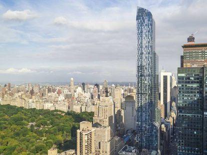 Imágenes publicitarias del edificio de Christian de Porzamparc One 57th Street en Nueva York.