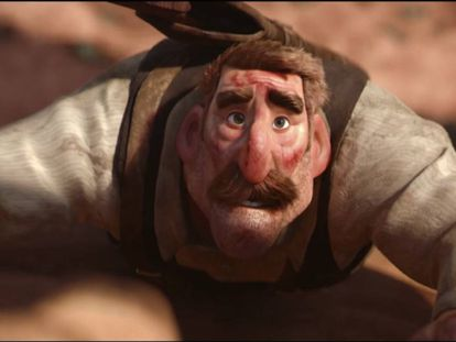 Uno de los momentos tensos de 'Borrowed time', el nuevo cortometraje de Pixar.