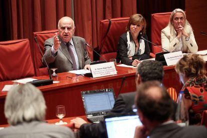 Ramon Bagó, ayer en su comparecencia ante la comisión parlamentaria.