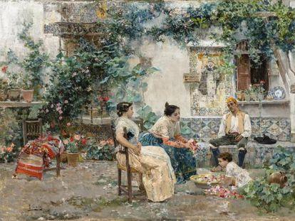 'Patio valenciano', de Joaquín Sorolla.