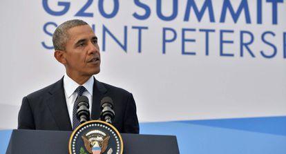 Obama, durante la cumbre del G20.