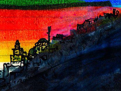 Uno de los dibujos del autor que acompañan su nuevo libro, 'Una sensación extraña'. © Orhan Pamuk