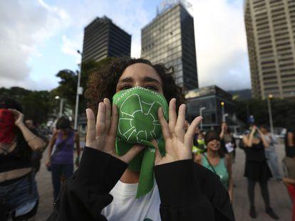 Una manifestación feminista en Caracas, el pasado diciembre.