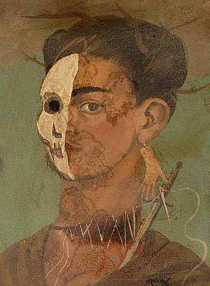 Uno de los presuntos autorretratos de Frida Kahlo.