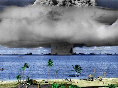 Pruebas nucleares del Ejército de EE UU realizadas en el atolón Bikini (islas Marshall).