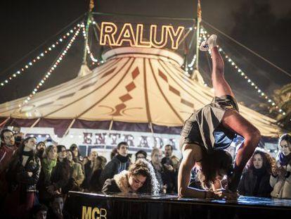 Carpa del circo Raluy, en 2013.
