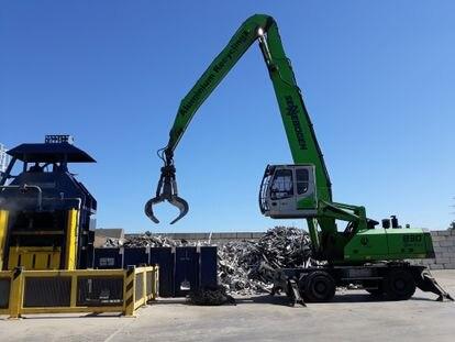 Una planta de separación de residuos alumínicos de la empresa Hydro Building System.