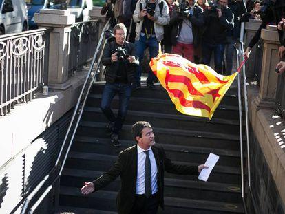 Manuel Valls, este martes en Barcelona. ALBERT GARCIA / VÍDEO: ATLAS