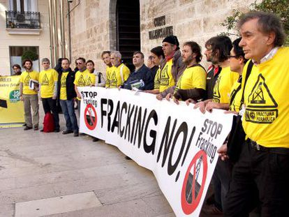 Protestas en Castellón contra el fracking.