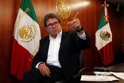 Ricardo Monreal en el edificio del Senado en Ciudad de México, el pasado 29 de septiembre.