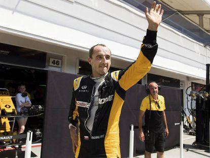 Kubica, en el test que realizó con Renault el pasado 2 de agosto.