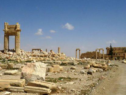 Vista general de la ciudad vieja de Palmira, el pasado 27 de marzo.