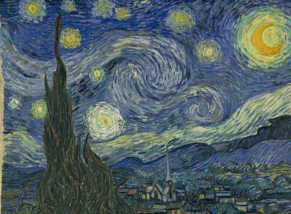 <i>La noche estrellada,</i> de Van Gogh, pintado durante un episodio de manía del pintor.