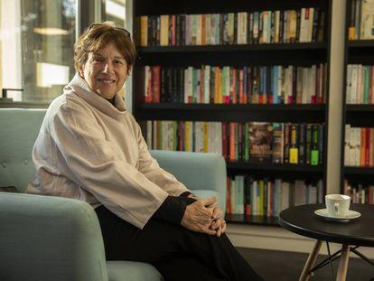 La escritora colombiana Yolanda Reyes, en la sede de Alfaguara en Madrid.