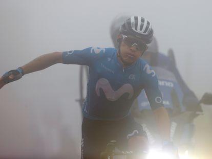 El colombiano Miguel Ángel López, durante la etapa de este jueves.