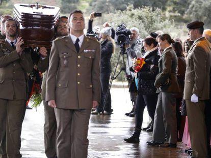 Funeral por el cabo Soria, en enero de 2015.