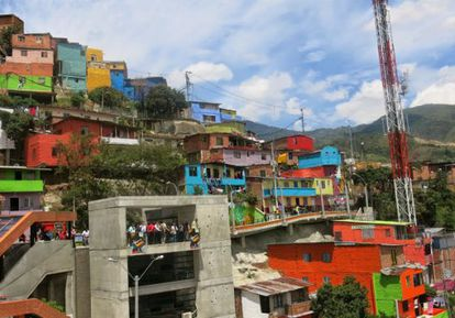 Comuna número 13. Uno de los barrios periféricos de Medellín.