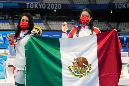 Gabriela Agúndez y Alejandra Orozco, bronce en la plataforma de 10 metros.