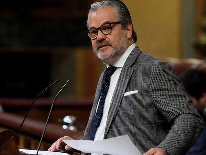 El exdiputado de Ciudadanos Marcos de Quinto, en el pleno del Congreso.