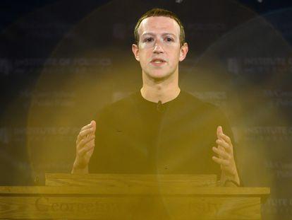 Mark Zuckerberg en una conferencia en la Universidad de Georgetown, en Washington en 2019.