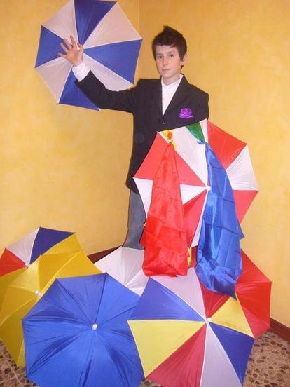 David Ruidor, 14 years old, during a magic show.