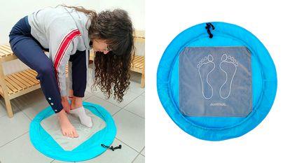 Esta alfombra antideslizante es ideal para vestuarios, piscinas, gimnasios y más.
