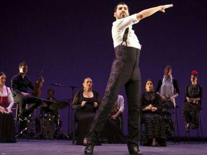 Carlos Rodríguez en la 'Gala flamenca' en Londres.