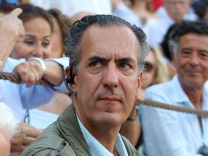 Jaime de Marichalar, en una corrida de toros en Málaga en agosto de 2018.
