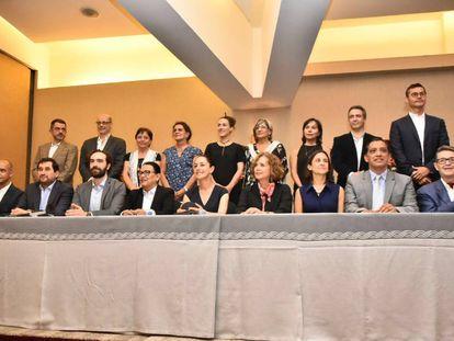 Presentación del gabinete de Gobierno de Ciudad de México