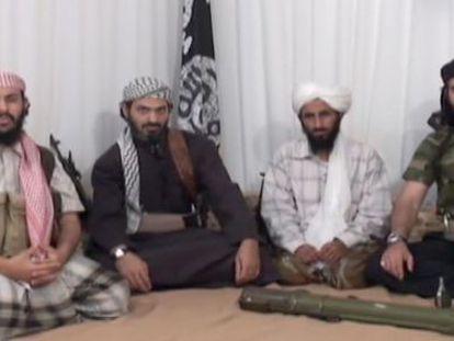 Captura de pantalla del vídeo de presentación de los fundadores de Al Qaeda en la península Arábiga.