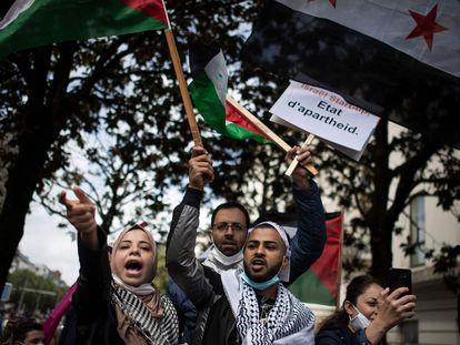 Manifestación en favor de los palestinos, el pasado 15 de mayo en Nantes, Francia.