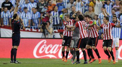 Mateu Lahoz anula un gol dekl Athletic ante el Málaga.