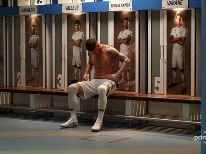 El futbolista Sergio Ramos en un fotograma de la serie documental de Amazon.