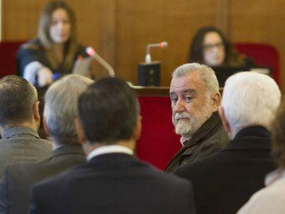 Torrijos, durante el juicio por la venta de los suelos de Mercasevilla.