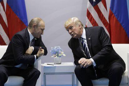 Putin y Trump, en la cumbre del G20 en Hamburgo en julio de 2017
