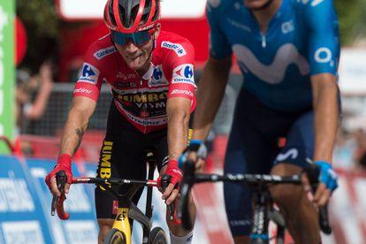 Primoz Roglic al terminar la décima etapa de la Vuelta a España este martes.