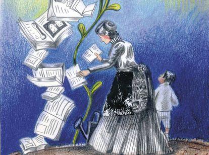 Ilustración de Antonia Santolaya.