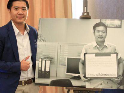 Kanattsanan 'Mukk' Dokput, en una conferencia sobre el transgenero, en el hotel Novotel Ploenchit de Bangkok.