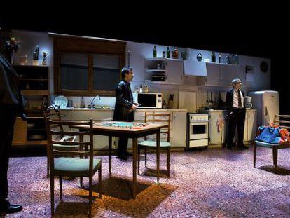 Escena de 'Los jugadores', de Pau Miró, en el Teatre Lliure.