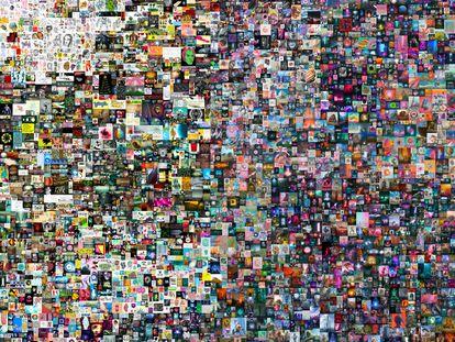 'Everydays: The First 5000 Days' (Todos los días: los primeros 5.000 días), el 'collage' de 5.000 imágenes de Beeple.