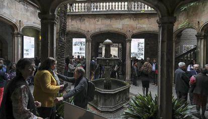 El patio gótico del Arxiu Històric de la Ciutat de Barcelona.