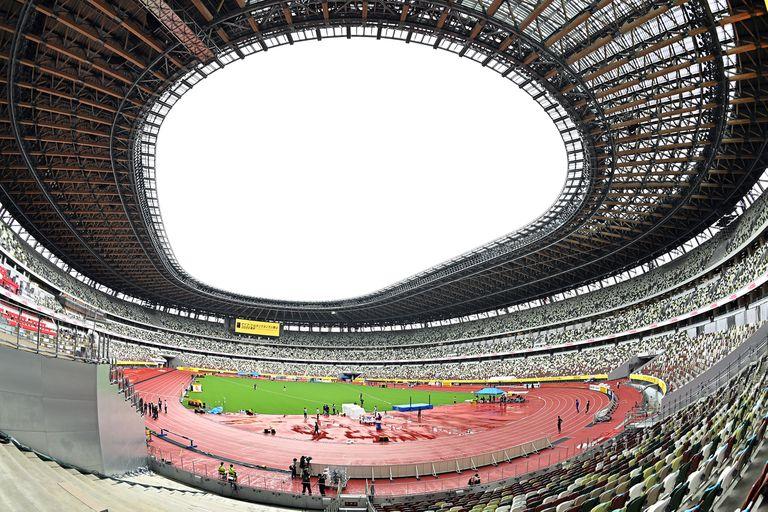 El Estadio Nacional de Tokio, sin público durante una competición de atletismo en agosto pasado.