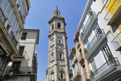 Campanario de Santa Catalina, en Valencia.