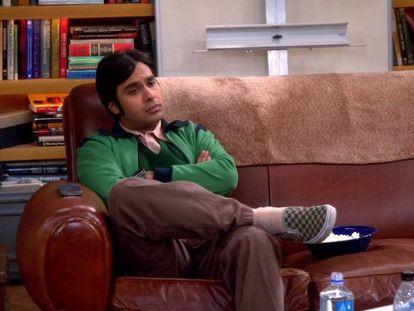 Kunal Nayyar, el astrofísico Rajesh Koothrappali en 'The Big Bang Theory'.