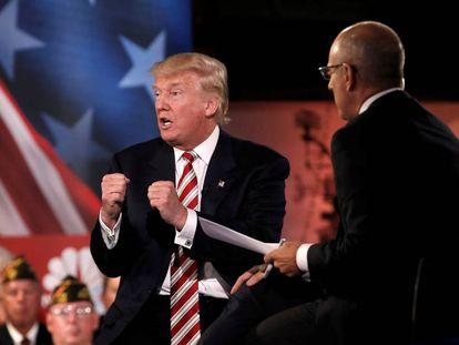 Donald Trump, el miércoles por la noche, en Nueva York.