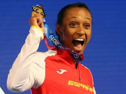 Peleteiro, con la medalla de oro recién ganada.
