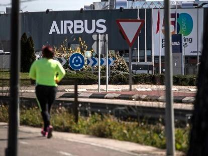 Vista de la fábrica de Airbus en Getafe, el pasado mes de marzo.