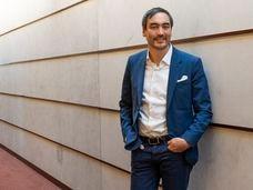Timothy Wu en su oficina en la Universidad de Columbia en marzo.