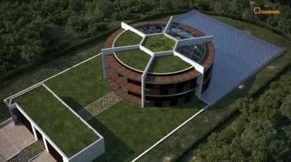Proyecto de la casa de Messi en Pedralbes.