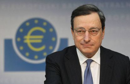 Mario Draghi, presidente del Banco Central Europeo, el pasado 12 de enero en la sede del organismo, en Fráncfort.